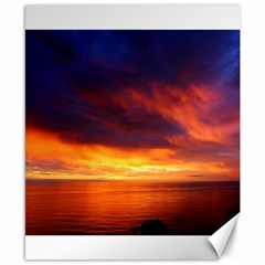 Sunset The Pacific Ocean Evening Canvas 8  X 10  by Amaryn4rt