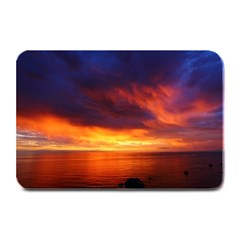 Sunset The Pacific Ocean Evening Plate Mats by Amaryn4rt
