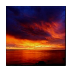 Sunset The Pacific Ocean Evening Face Towel by Amaryn4rt
