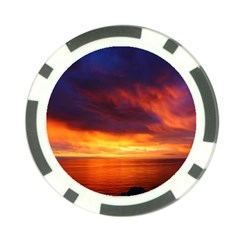 Sunset The Pacific Ocean Evening Poker Chip Card Guards (10 Pack)  by Amaryn4rt