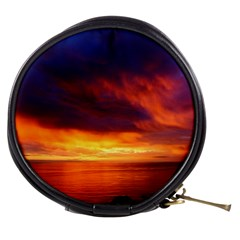 Sunset The Pacific Ocean Evening Mini Makeup Bags by Amaryn4rt