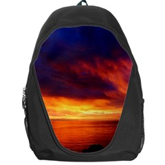 Sunset The Pacific Ocean Evening Backpack Bag