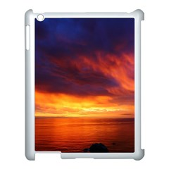 Sunset The Pacific Ocean Evening Apple Ipad 3/4 Case (white) by Amaryn4rt