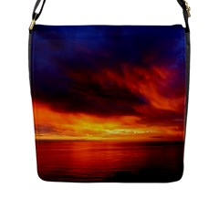 Sunset The Pacific Ocean Evening Flap Messenger Bag (l)  by Amaryn4rt