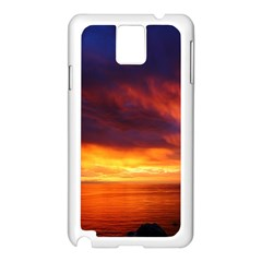 Sunset The Pacific Ocean Evening Samsung Galaxy Note 3 N9005 Case (white) by Amaryn4rt