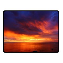 Sunset The Pacific Ocean Evening Double Sided Fleece Blanket (small)  by Amaryn4rt