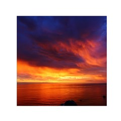 Sunset The Pacific Ocean Evening Small Satin Scarf (square)