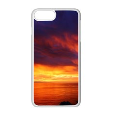 Sunset The Pacific Ocean Evening Apple Iphone 7 Plus White Seamless Case by Amaryn4rt