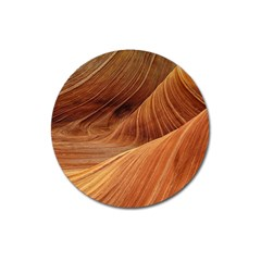 Sandstone The Wave Rock Nature Red Sand Magnet 3  (round) by Amaryn4rt