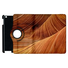Sandstone The Wave Rock Nature Red Sand Apple Ipad 2 Flip 360 Case by Amaryn4rt
