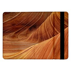 Sandstone The Wave Rock Nature Red Sand Samsung Galaxy Tab Pro 12 2  Flip Case