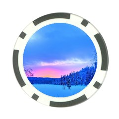 Winter Landscape Snow Forest Trees Poker Chip Card Guards (10 Pack)