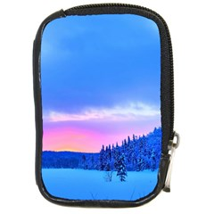 Winter Landscape Snow Forest Trees Compact Camera Cases by Amaryn4rt