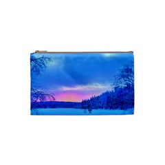 Winter Landscape Snow Forest Trees Cosmetic Bag (small)