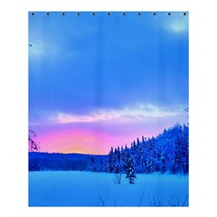Winter Landscape Snow Forest Trees Shower Curtain 60  X 72  (medium)  by Amaryn4rt
