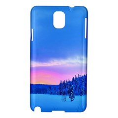 Winter Landscape Snow Forest Trees Samsung Galaxy Note 3 N9005 Hardshell Case by Amaryn4rt