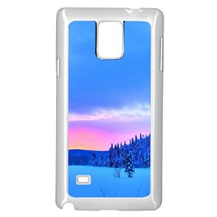 Winter Landscape Snow Forest Trees Samsung Galaxy Note 4 Case (white) by Amaryn4rt