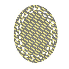 Yellow Washi Tape Tileable Oval Filigree Ornament (2 Side)  by AnjaniArt