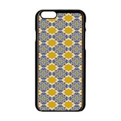 Arabesque Star Apple Iphone 6/6s Black Enamel Case by AnjaniArt