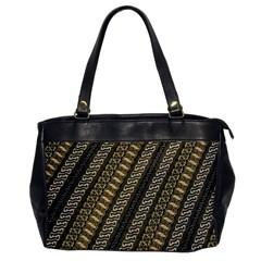 Batik Cap Parang Gendreh Kombinas Office Handbags by AnjaniArt