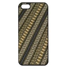 Batik Cap Parang Gendreh Kombinas Apple Iphone 5 Seamless Case (black) by AnjaniArt