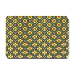 Arabesque Flower Yellow Small Doormat  by AnjaniArt