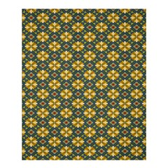 Arabesque Flower Yellow Shower Curtain 60  X 72  (medium)  by AnjaniArt