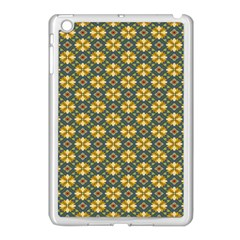 Arabesque Flower Yellow Apple Ipad Mini Case (white) by AnjaniArt
