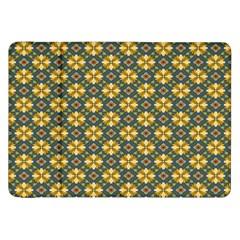 Arabesque Flower Yellow Samsung Galaxy Tab 8 9  P7300 Flip Case by AnjaniArt
