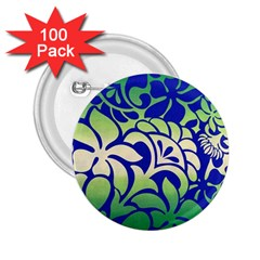 Batik Fabric Flower 2 25  Buttons (100 Pack)  by AnjaniArt