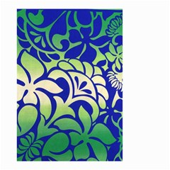 Batik Fabric Flower Small Garden Flag (two Sides) by AnjaniArt