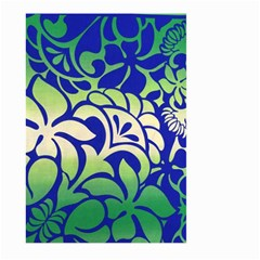 Batik Fabric Flower Large Garden Flag (two Sides) by AnjaniArt