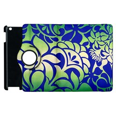 Batik Fabric Flower Apple Ipad 3/4 Flip 360 Case by AnjaniArt