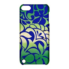 Batik Fabric Flower Apple Ipod Touch 5 Hardshell Case With Stand by AnjaniArt