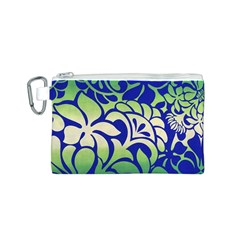 Batik Fabric Flower Canvas Cosmetic Bag (s) by AnjaniArt