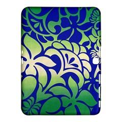 Batik Fabric Flower Samsung Galaxy Tab 4 (10 1 ) Hardshell Case  by AnjaniArt