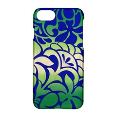 Batik Fabric Flower Apple Iphone 7 Hardshell Case by AnjaniArt