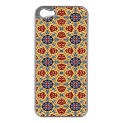 Arabesque Flower Apple Iphone 5 Case (silver) by AnjaniArt