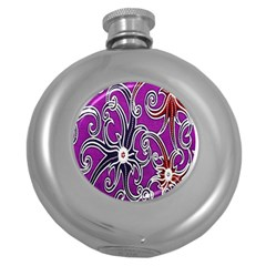 Batik Jogja Round Hip Flask (5 Oz) by AnjaniArt