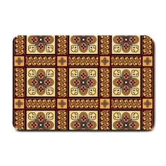 Batik Flower Brown Small Doormat  by AnjaniArt