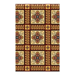Batik Flower Brown Shower Curtain 48  X 72  (small)  by AnjaniArt