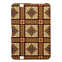 Batik Flower Brown Kindle Fire Hd 8 9  by AnjaniArt
