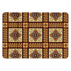 Batik Flower Brown Samsung Galaxy Tab 8 9  P7300 Flip Case by AnjaniArt