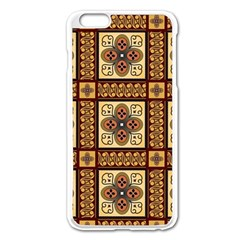 Batik Flower Brown Apple Iphone 6 Plus/6s Plus Enamel White Case by AnjaniArt