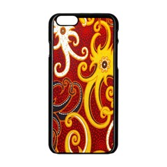 Batik Jogja Java Apple Iphone 6/6s Black Enamel Case by AnjaniArt