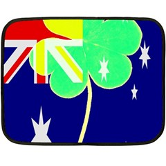 St  Patrick Australia And Ireland Irish Shamrock Australian Country Flag  Fleece Blanket (mini) by yoursparklingshop