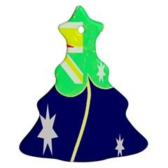 St  Patrick Australia And Ireland Irish Shamrock Australian Country Flag  Christmas Tree Ornament (2 Sides) by yoursparklingshop