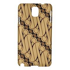 Batik Parang Rusak Seamless Samsung Galaxy Note 3 N9005 Hardshell Case by AnjaniArt
