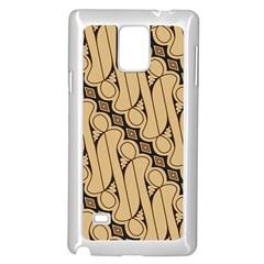 Batik Parang Rusak Seamless Samsung Galaxy Note 4 Case (white) by AnjaniArt