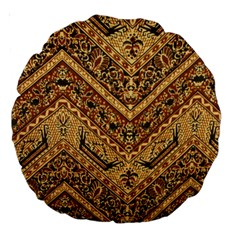 Batik Pekalongan Large 18  Premium Round Cushions by AnjaniArt